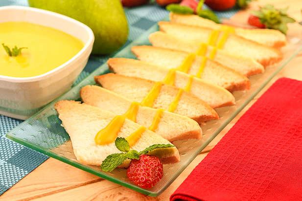 Custard Mangga Roti Tawar