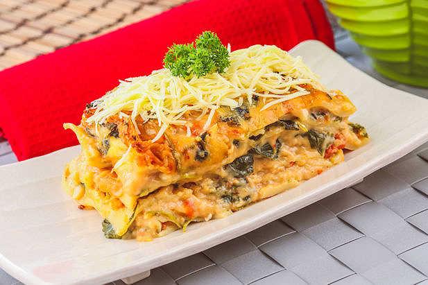 Lasagna Bayam Pedas