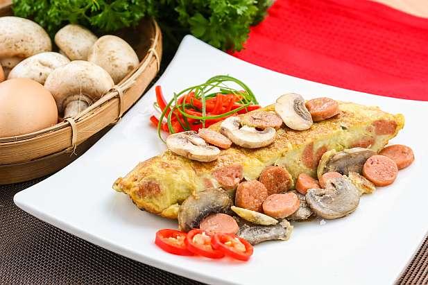 Omelet Sosis Jamur Resep Dari Dapur Kobe