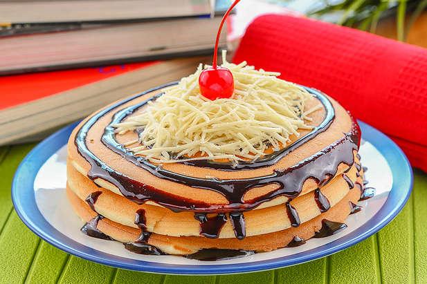 Pancake Coklat Keju