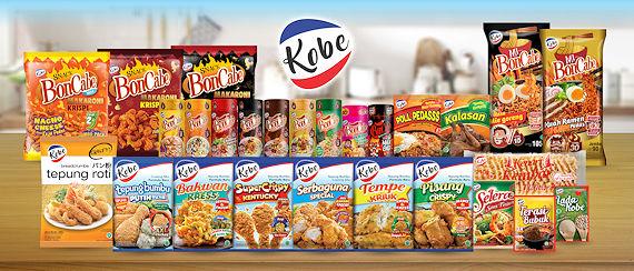 Produk Kobe Indonesia, tepung bumbu, boncabe, saus tiram selera, nasi goreng poll pedas dan nasi goreng poll ayam