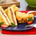 Sandwich goreng isi kornet