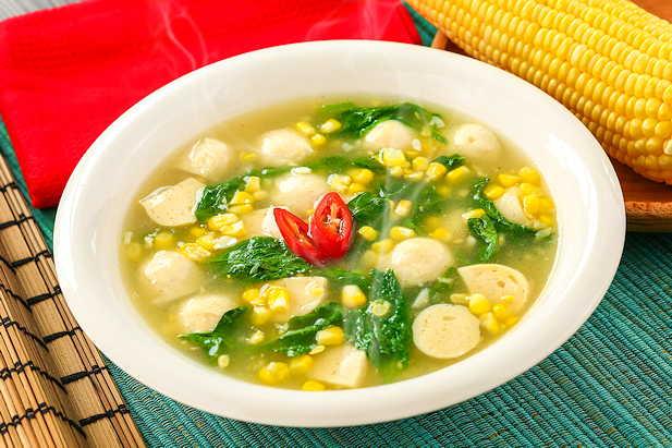 Sup Kental Bayam dan Jagung